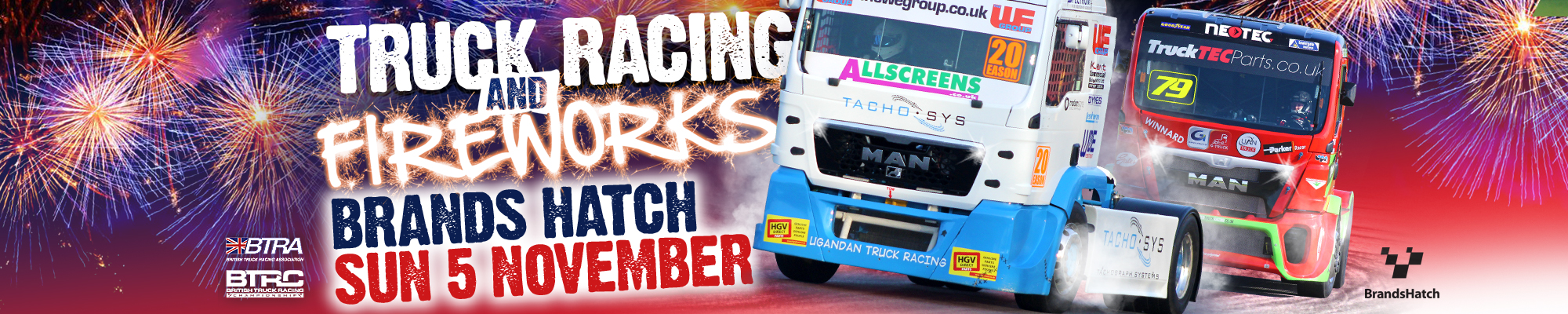 British Truck Racing and Fireworks